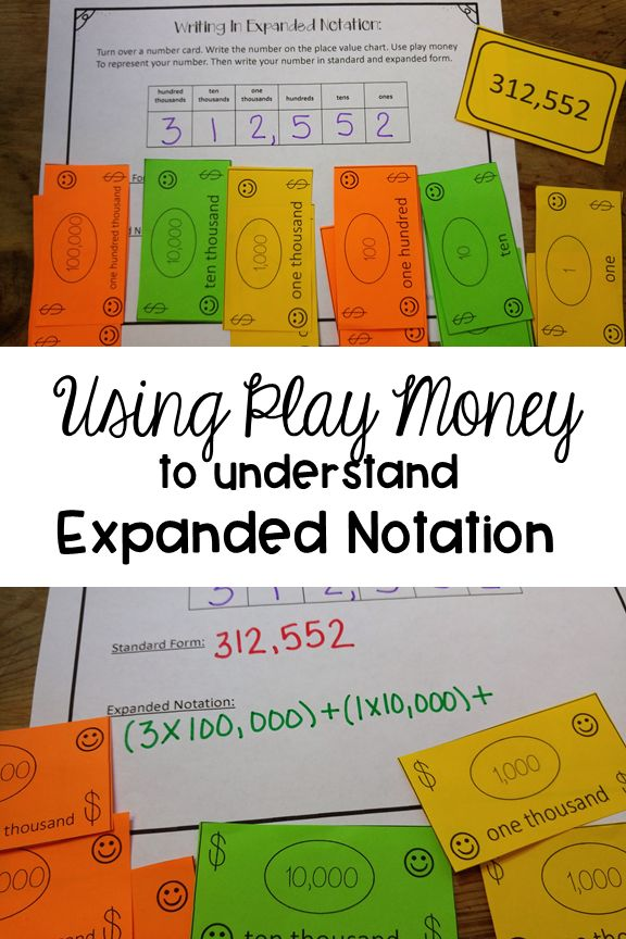 Need a new strategy for teaching expanded notation? Use play money to help your students really understand this place value concept. Perfect for grades third, fourth or fifth, but can also be used for older students who need a little something different.