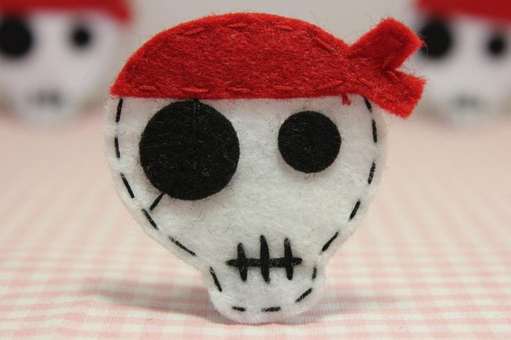Set of 6pcs handmade felt Pirate--devil red (FT808). $5.39, via Etsy.Pirates Deviled Red, 6Pcs Handmade, Felt Piratedevil, Pirate'S Deviled Red, Felt Pirates Deviled, Felt Pirate'S Deviled, Felt Fieltro, Red Ft808, Handmade Felt