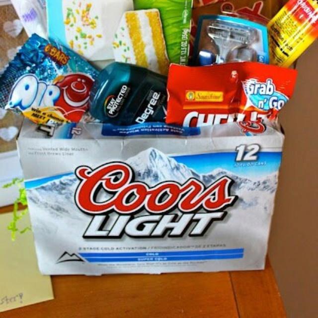 18th Birthday Basket For My Son S Birthday Filled With: Beer Basket... Perfect Easter Basket For My Husband