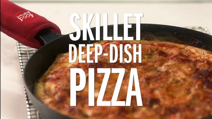 Skillet Deep Dish Pizza -- A heavy skillet is perfect for making this crispy, cheesy sausage pizza. Brought to you from our Food Network Kitchen and @Kohls