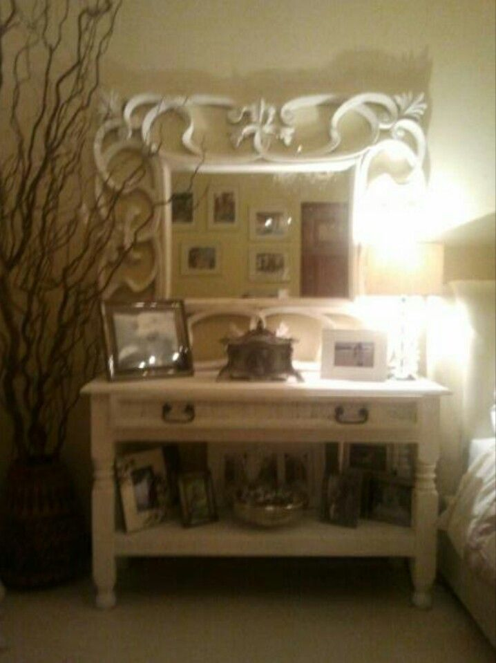 Mirror And Painted Bedside Table: 38 Best Painted Upcycled Mexican Pine Furniture Images On