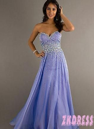 Periwinkle sparkly beaded dress