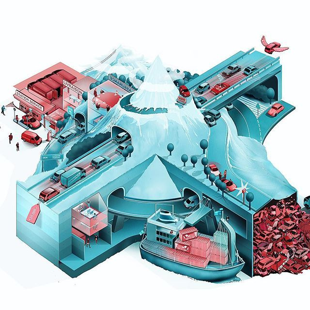 informationillustration about the suisse automobile economy. For suisse magazine Migros. ---------------------------------------------------- #illustration #illustrate #illustrationartist #infoillustration #informationgraphic #infographic #editorial #magazine #studiotopie #suisse #switzerland #automobile #mountains #helvetia #cars #economy