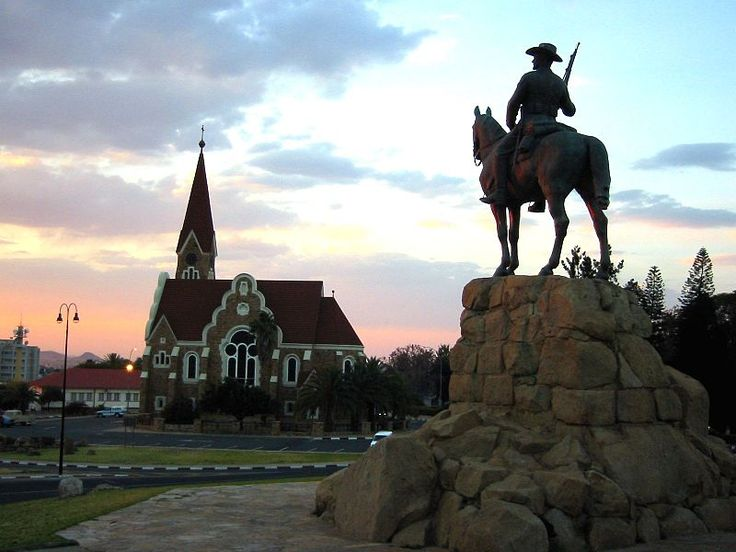 Reiterdenkmal in Windhoek before its relocation in 2009 The Reiterdenkmal (English: Equestrian Monument) in Windhoek was erected in 1912 to celebrate the victory and to remember the fallen Germans with no mention of the killed indigenous population. It remains a bone of contention in independent NamibiaFile:Kirche denkmal nam.jpg