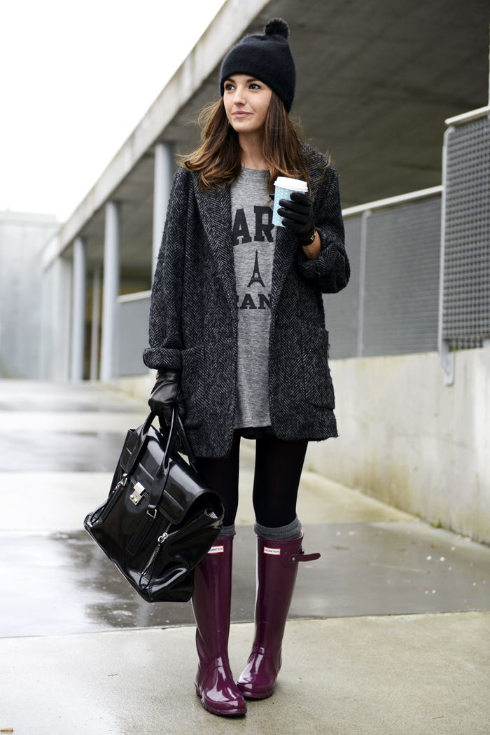 Cozy on up for winter with long coats and knee high boots! [ AlbertoFermaniUSA.com ] #winter #fashion #style
