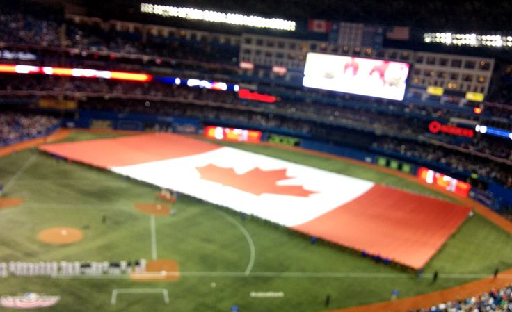This may just be the largest Canadian flag we've ever seen.