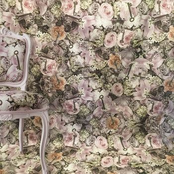 SPRING COTTAGE FLOWERY FABRIC