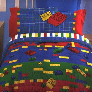Lego bedding.. Died and gone to play land