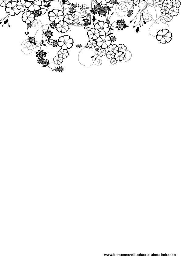 Folios decorados en blanco y negro-Imagenes y dibujos para imprimir
