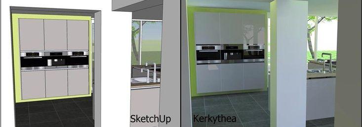 www.sketchupcursus.nl - SketchUp 3D visualisatie van glans met renderprogramma Kerkythea