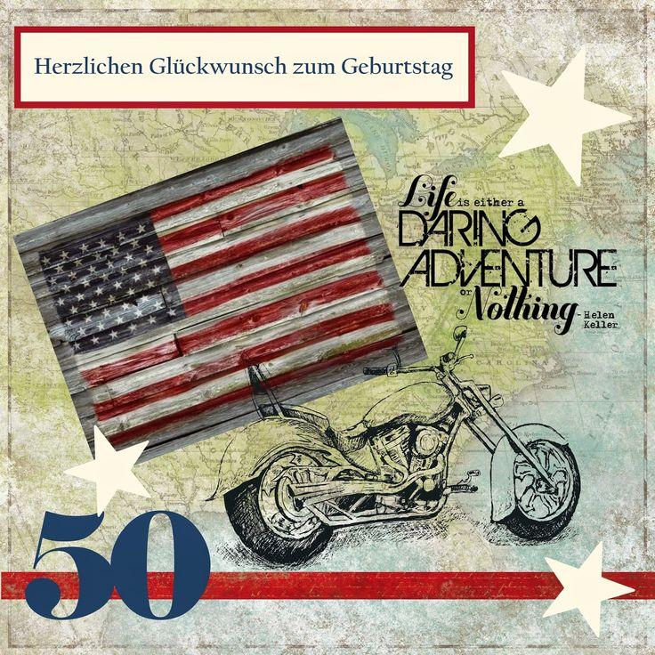 Willkommen im bastel wunderland karte zum 50 geburtstag mit harley m nnerkarte pinterest - Pinterest 50 geburtstag ...