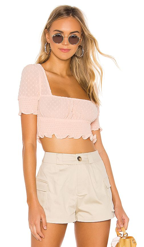 ab280f04a superdown Lexi Smocked Top in Peach | REVOLVE | •closet in 2019 ...