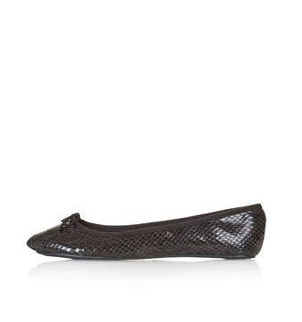 Black & Brown, Topshop vibrant snake ballet flats / Garance Doré