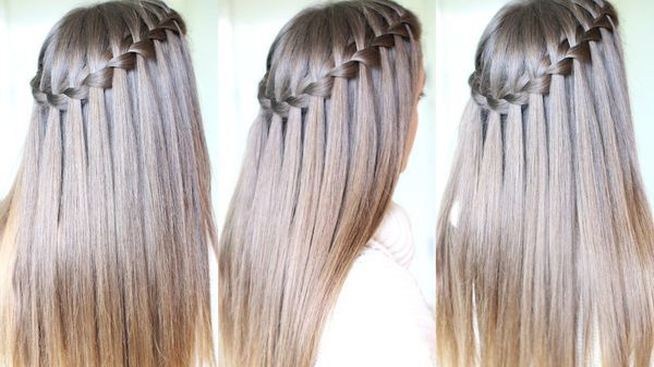 55 Unexpected Braided Hairstyles For Long Hair Checopie In 2020 Waterfall Braid Tutorial Waterfall Braid Hairstyle Long Hair Styles