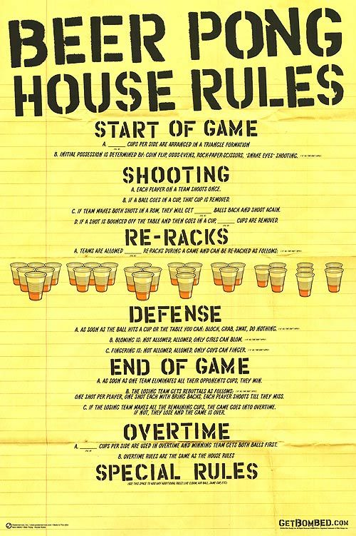 Thinking we will need rules for each game...