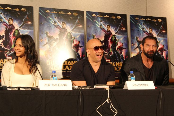 Chatting with the cast of guardians of the galaxy the queen of