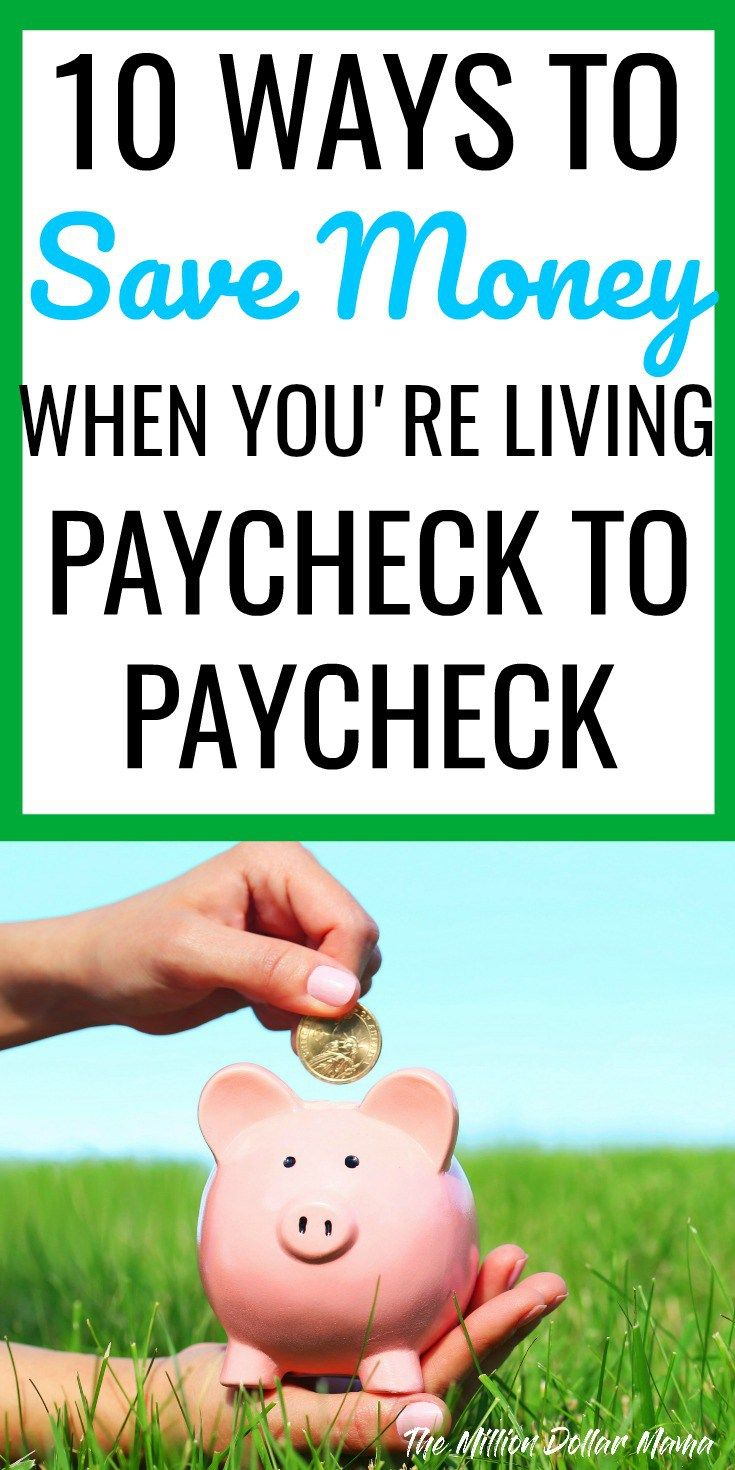 How to save money when you're living paycheck to paycheck. When you're on a low income, it can be difficult to save money. Here are 10 ways to save money each week when you're broke.