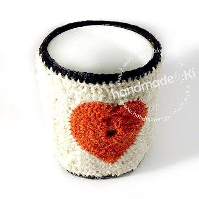 HANDMADE by Ki: otulacz na kubek ... ciepło i przytulnie ...