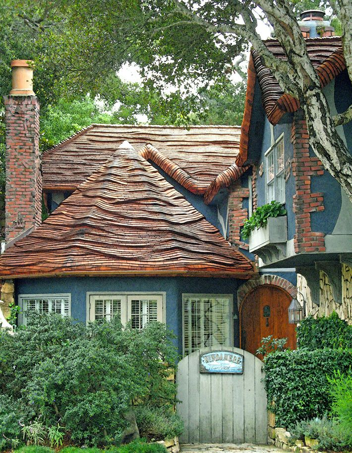 Windamere cottage in carmel by the sea with steam bent for Cottage style roof design
