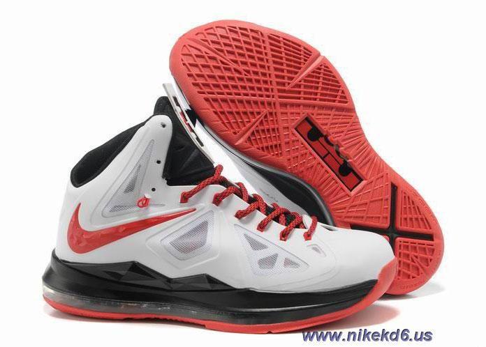 Nike Lebron X 10 White Black Red Outlet