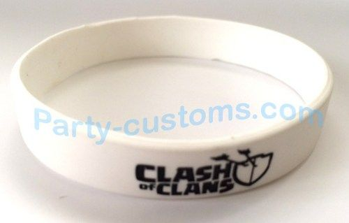 """Clash of Clans Silicone bracelet """"White"""" 