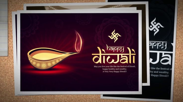 Happy Diwali Pics Painting Wishes Images HD Greeting Card Design Photo o...