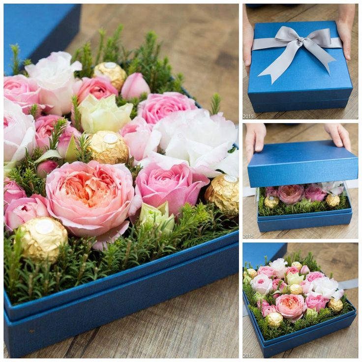 garden roses and chocolates. perfect gift idea DIY Kit