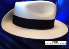 Michael Jackson Premiere White Fedora Hat With Name...I need to get me one of these SC Fedoras...
