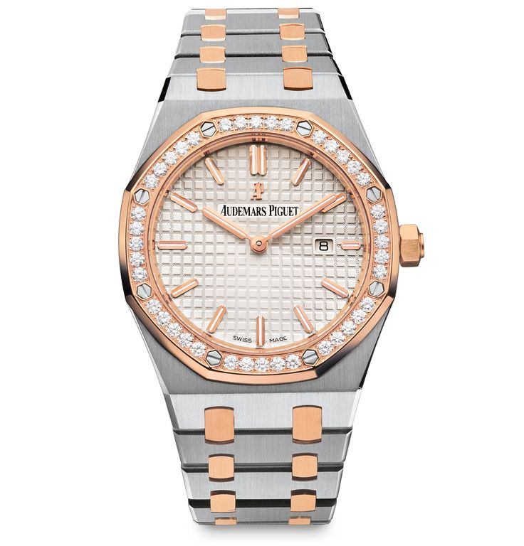 Audemars Piguet Ladies Royal Oak Collection Quartz 67651SR.ZZ.1261SR.01 Rose Gold & Stainless Steel Watch Image 1