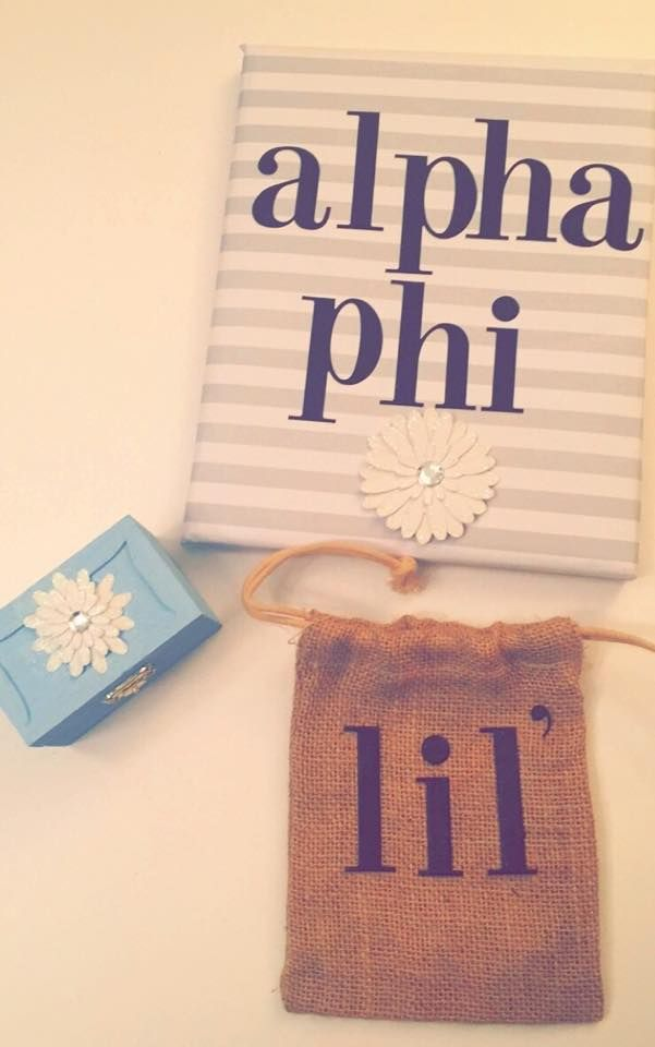 Alpha Phi UConn Big & Little Crafts! Pin Box Canvas and Pouch! #CraftyPhis #AlphaPhiUConn
