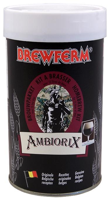 Brewferm Ambiorix 15 l    Bere rosie, de culoarea cuprului.Un usor gust acid la inceput, cu o nota de final dulce.  Foarte asemanatoare binecunoscutei beri rosii Roeselare.    Ingrediente:  Extras de malt cu hamei  Drojdie speciala Brewferm    Greutate kit - 1.5 kg  Pentru 15 litri de bere  ABV - aprox. 8%