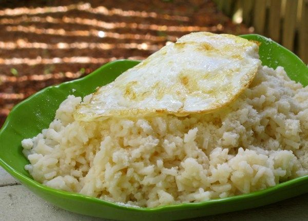 Fried Egg over Savory Rice