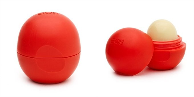 EOS Summer Fruit Lip Balm - best balm ever, and best thing about the crazy shape is that I never lose it!
