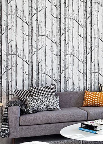 cole son woods wallpaper eclectic home pinterest
