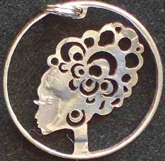 Lady Hand Cut Coin Jewelry