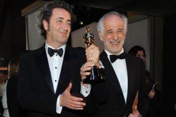 Il regista de 'La grande bellezza' Paolo Sorrentino con Toni Servillo, protagonista del film.