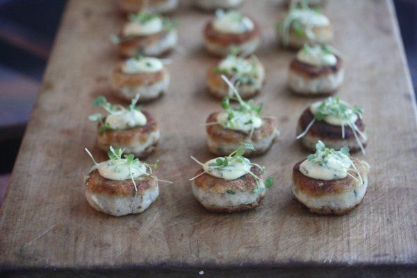 Smoked Fish Cakes with Corn Tartar Sauce | Yummmmy! | Pinterest