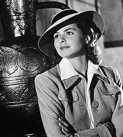 Ingrid Bergman - this images takes you right back to Casablanca!