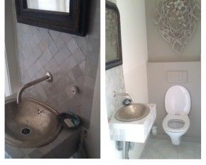 1000 images about tegels on pinterest toilets belle and mosaics - Deco toilet zwart ...
