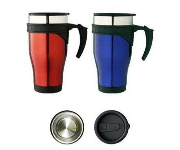 TRAVEL MUGS – M20  Price includes 1 color, 1 position print   2 Color imprint available for an additional charge  Decoration option: Pad print, Screen print, Laser engrave, Heat transfer  Printing Size: 40mm x 40 mm  Laser Engraving Size: 30mm x 40 mm