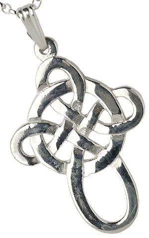 IrishJewelryOnline.com: White Gold Filigree Celtic Cross