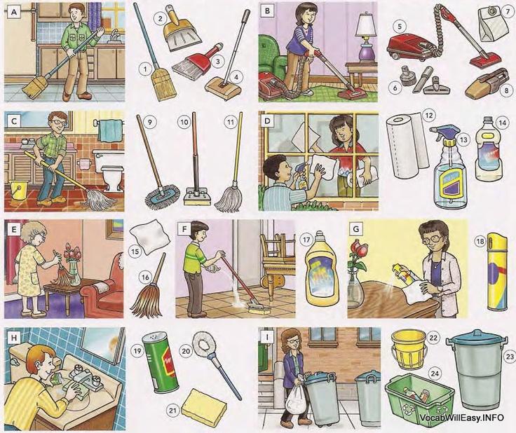 huis schoonmaken | Thema: grote schoonmaak / poetsen ...