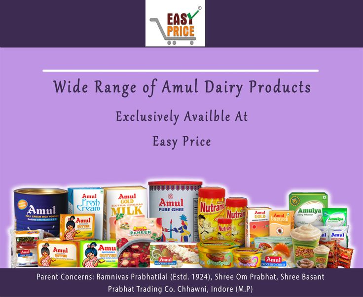 Enjoy India's Famous Brand known for his Quality of Dairy Product. Amul Dairy Products are Available Exclusively at Easy Price.  #dairy_product #amul #milk #cream #butter #delicious #tasty #healthy #ghee #ice_cream #Indore #onestopshop #easyprice