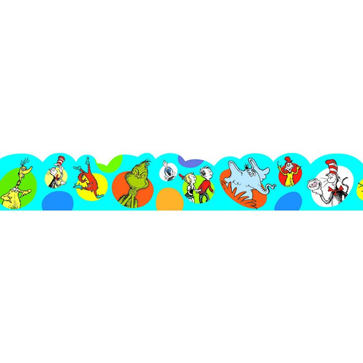 Decorate your classroom with Dr. Seuss. Each package includes 37 Feet of trim.
