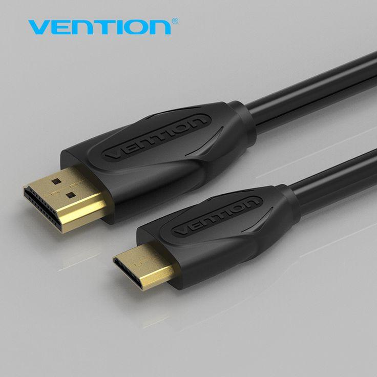 Convention Mini HDMI à HDMI Câble Or-Plaqué HDMI 1.4 V 1080 P 1 m 1.5 m 2 m 3 m Haute Premium HDMI Câble pour Tablet Caméscope MP4 DVD