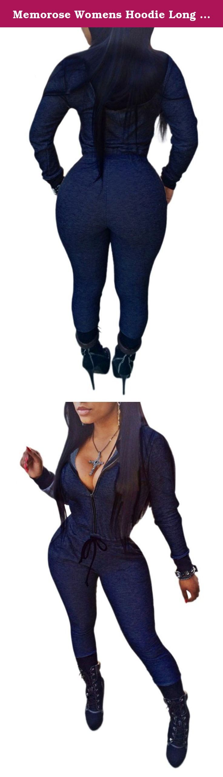 Memorose Womens Hoodie Long Sleeve Zip Up Denim Slim Jumpsuit Romper Playsuit Blue L. Basic Information: Memorose Womens Hoodie Long Sleeve Zip Up Denim Slim Jumpsuit Romper Playsuit Our size is Asia size,not US/UK size.Please Check MEASUREMENTS IN THE IMAGE Note:1 Inch=2.54 CM; 1 CM=0.39 Inch. *Due to Manual measurement there is 2-3cm difference exist Note: Due to the difference between different monitors, the picture may not reflect the actual color of the item. We guarantee the style…