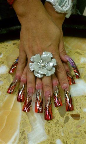 Hand Design by nails0930 - Nail Art Gallery nailartgallery.nailsmag.com by Nails Magazine www.nailsmag.com #nailart