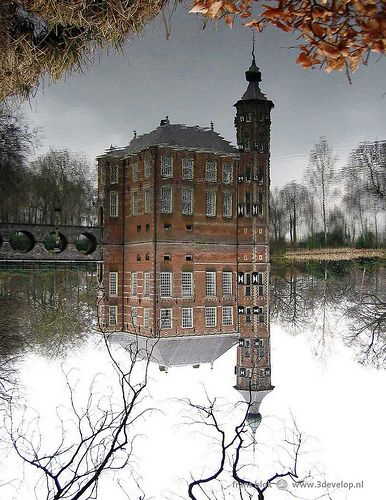 Reflection of a castle near Breda, The Netherlands