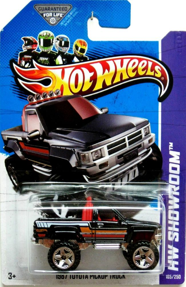 1987 Toyota Pickup Truck Hot Wheels 2013 HW Showroom #165/250 Black #HotWheels #Toyota