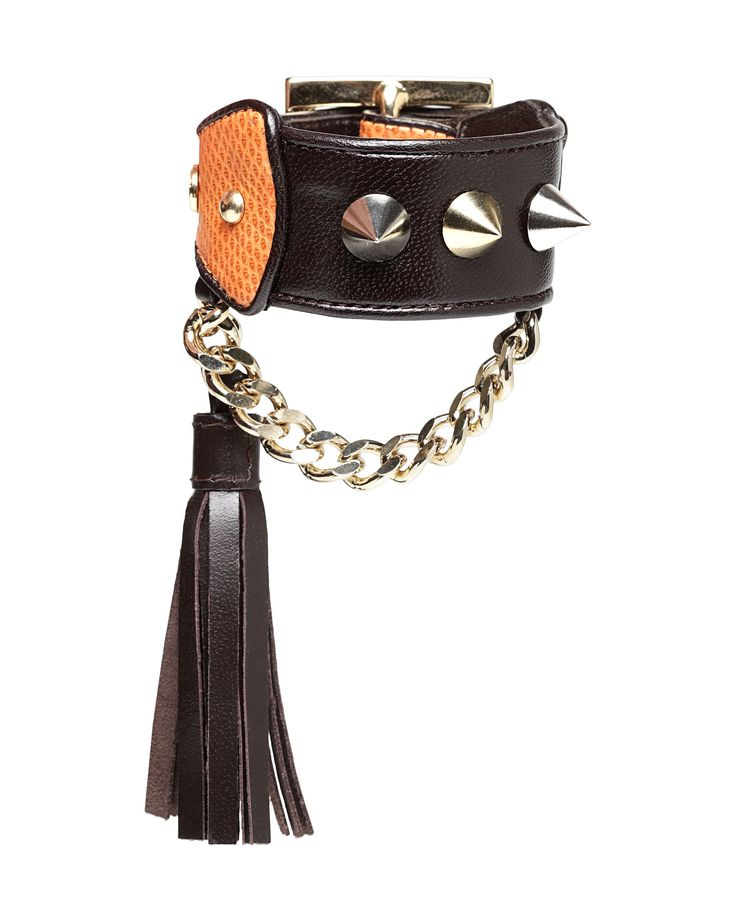 Allegra, bracelet in leather & karung snake skin